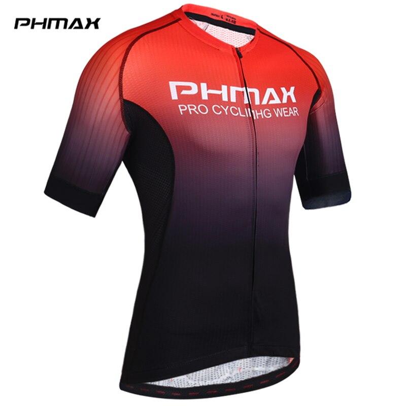 PHMAX Pro майки для велоспорта с коротким рукавом Одежда для велоспорта MTB велосипедная одежда летние Дорожные майки для велоспорта мужская фор...