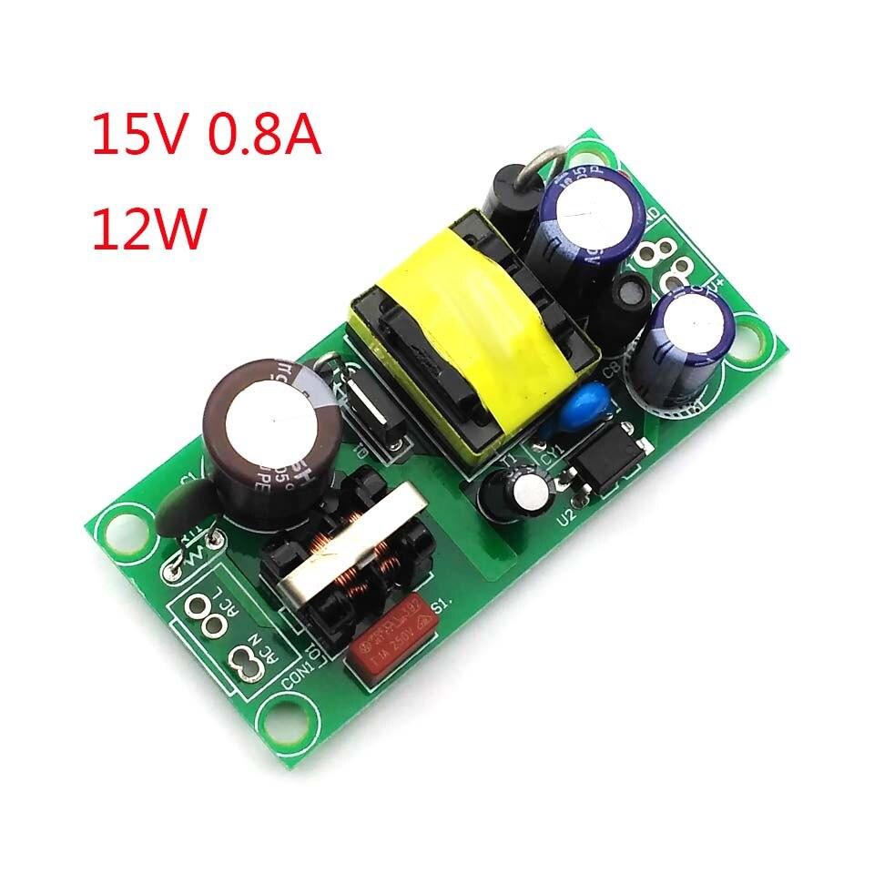 Módulo de fuente de alimentación de interruptor aislado 15V800mA (12 W) módulo reductor de AC-DC 220V giro 15V