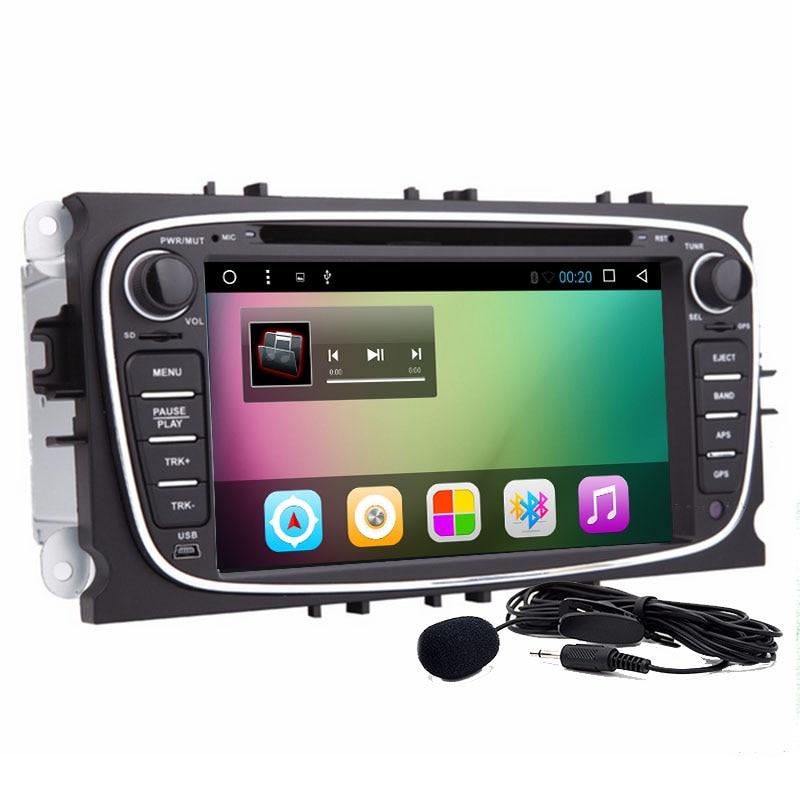 2 din Quad Core android 9,0 coche estéreo HD táctil digital pantalla reproductor de DVD con GPS Navigator/reflejo de pantalla/SWC para Ford Focus