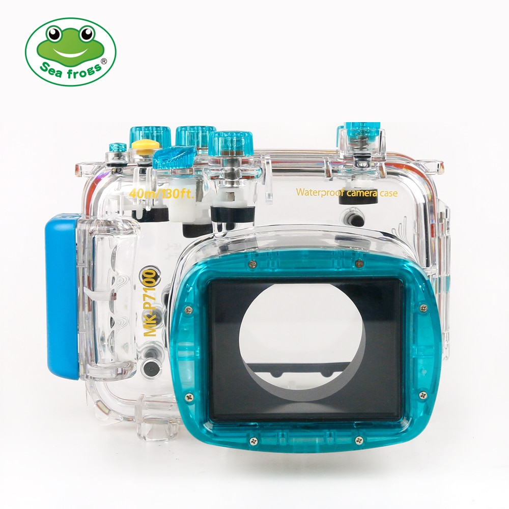 meikon wp dc44 waterproof underwater housing case 40m 130ftfor canon g1x camera 18mm lens with hand strap with o ring For Nikon P7100 Camera 18-55mm Underwater Housing Waterproof Case Water Sport Impermeable Protect Camera Cover Depth Rating 40m