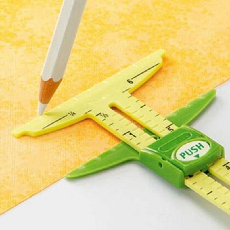 Manómetro deslizante 5 en 1 de alta calidad con la herramienta de costura de medición de NANCY, herramienta de Patchwork, regla a medida, accesorios para uso doméstico