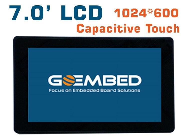 7 zoll LCD 1024*600 Hohe display kapazitiven touch panel am335x imx6 SBC bord beagleboneblack