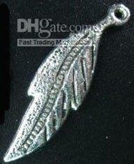 600pcs Tibetan silver crafted LEAF pendant 33x9mm A12