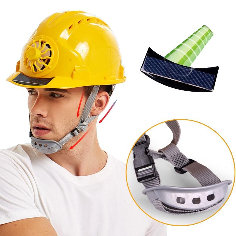 قبعة أمان ABS مقاومة للماء للاستخدام في الهواء الطلق ، غطاء أمان مع مروحة تبريد تعمل بالطاقة الشمسية ، لفصل الصيف