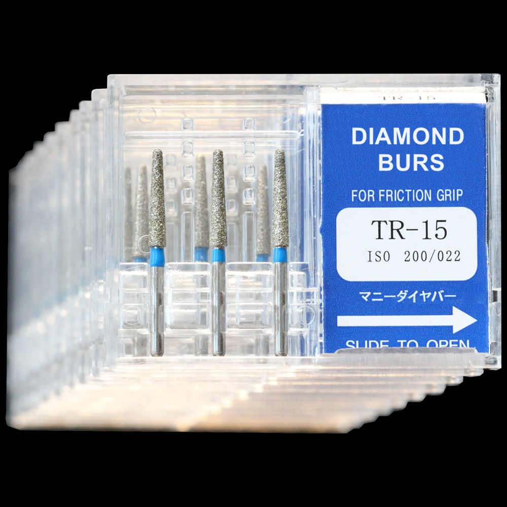 30Pcs(10Boxes) Dental Diamond Burs TR-15 Polisher Drill FG1.6mm High Speed Handpiece Polishing Dentist Burrs