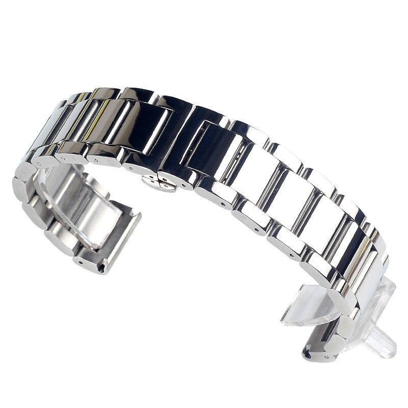 Купить с кэшбэком 2019 New Fashion Stainless Steel Watchbands For Gear Sport S2 S3 Galaxy Watch band Strap metal watch bracelets 20MM 22MM 24MM