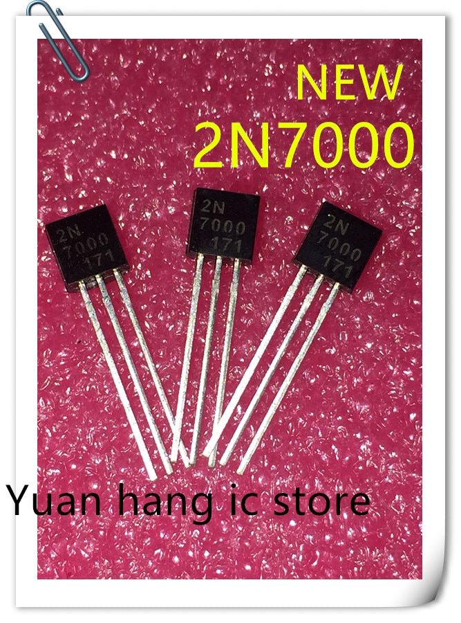 Free Shipping 50pcs/lot 2N7000 7000 TO-92 In-line transistor / small power triode