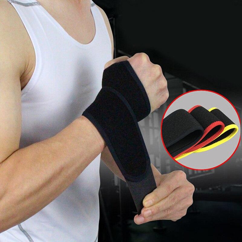 Muñequera de soporte ajustable para hombres y mujeres, muñequera de Bádminton de seguridad para deportes, muñequera para tenis, protección de la muñeca