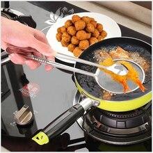 Accessoires de cuisine en acier inoxydable   Aliments frits, huile de pêche Scoop accessoires de cuisine, dispositif de débordement de couvercle, Stent pour Gadget de cuisine, vente en gros 1 pièce
