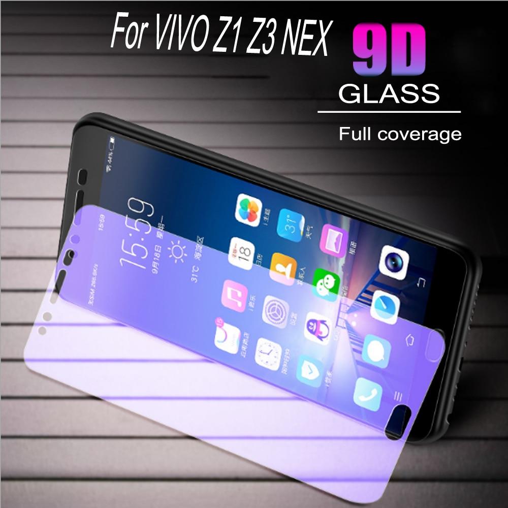 100pcs Glass Protective Film 9D Full Cover Tempered Glass For Vivo Z1 Z3 NEX  Screen Protector   Anti Blue Ray  Glass film