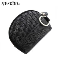 4colors knit womens purse for coins mini zipper clutch change wallet with keychain card bags coin pouch for female lady girl