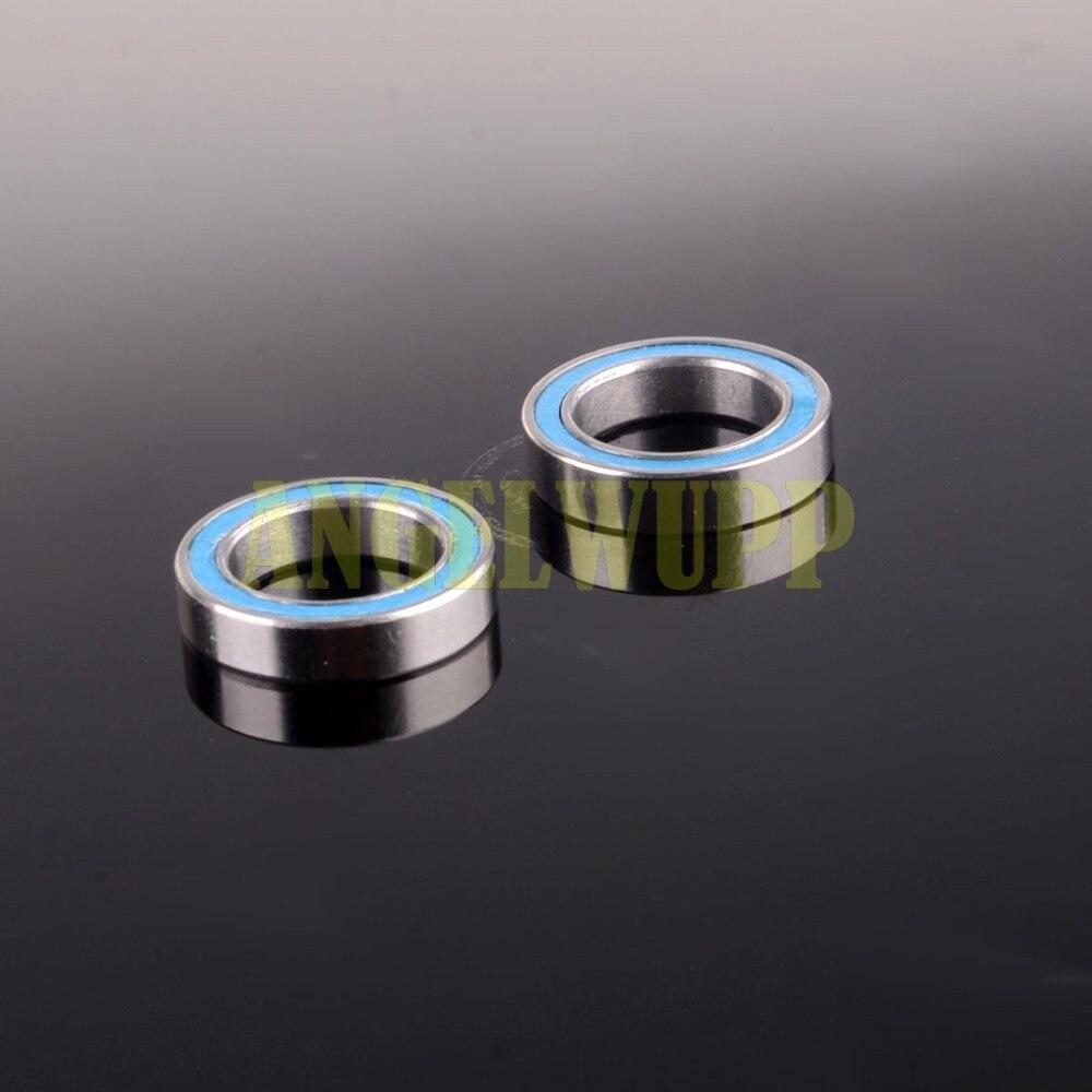 Шарикоподшипники 6701ZZx2 12*18*4 мм, синие резиновые, 2 шт., 12x18x4