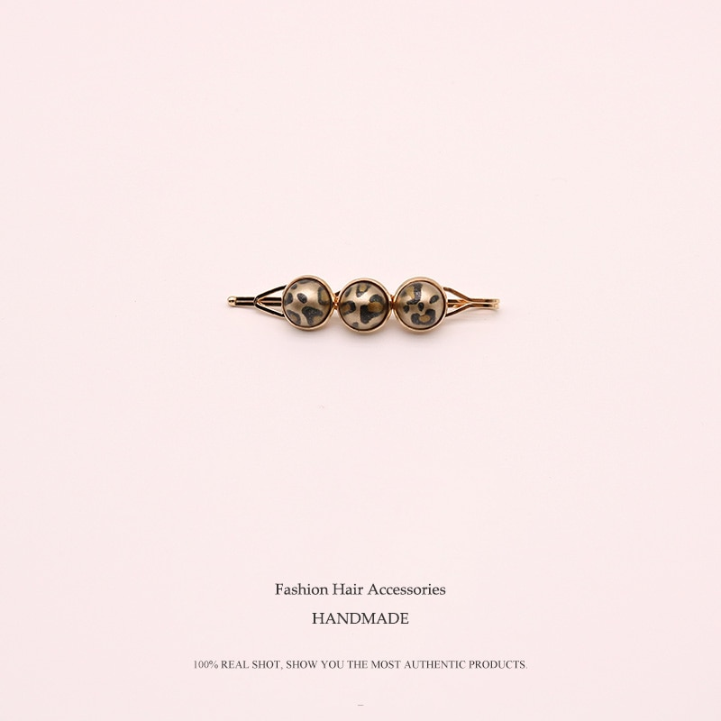 Horquillas tipo joya elegantes con leopardo Euhra, horquillas tipo joya para el Día de San Valentín
