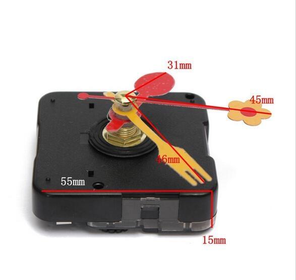 Fedex 100 establece una Cute cuchara floral de excelente calidad tenedor mecanismo de movimiento para reloj de cuarzo pieza de reparación Kit de Regalo De chico silencioso