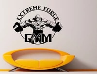 gym decoration vinyl decals sports fitness stickers indoor home boy room big macho decorative wall stickers jsf12