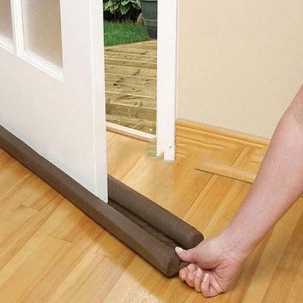 Bloqueador de polvo de guardia, sellador, aislante, para puerta, ventana, marrón, para puertas y ventanas interiores o exteriores, bloqueador de puerta