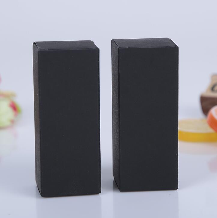 10 ml/15 ml/20 ml/30 ml caja de papel kraft blanco negro pintalabios DIY Perfume botella de aceite esencial caja de almacenamiento válvula tubo caja de embalaje