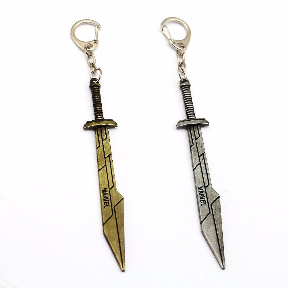 Llavero joyería de Mengtuyi con colgante de espada Raytheon THOR, nuevas armas Lei Shen Sword, colgante de llavero de dos colores