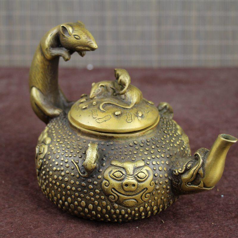 SHUN latón nuevo producto decoración varios artesanías regalo ratón de rata