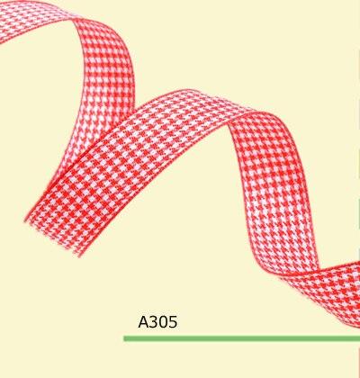 100 ярдов/рулон 3/8 дюйма (9 мм) Англия красная лента клетчатая для волос банты