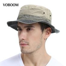 VOBOOM Men's Bob Summer Panama Bucket Hats Outdoor Fishing Wide Brim Hat UV Protection Cap Men Sombrero Gorro Sun for Male 139