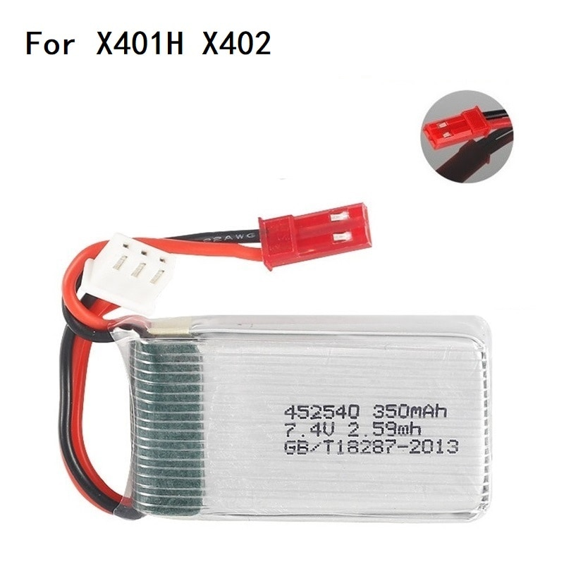 2s 7.4v 350mah 35C Lipo Battery for MJX X401H X402 JXD 515 515W 515V Battery RC Mini FPV Drone Quadcopter Helicopters 3.7v 2pcs enlarge