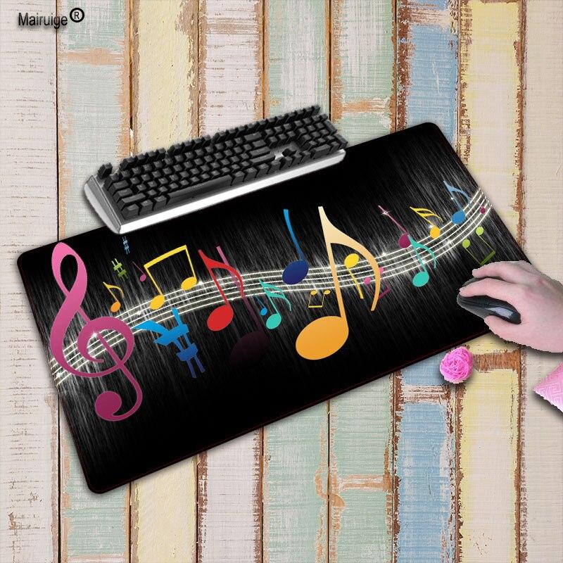 Mairuige nota Musical dibujada Borde de bloqueo de goma alfombrilla de ratón grande ordenador portátil de juegos ratón Gamer ratones esteras para CSGO