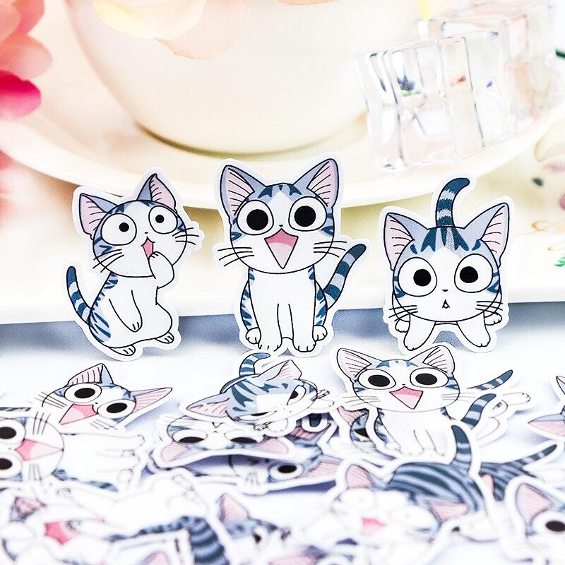 32pcs-sveglio-creativo-self-made-dolce-gatto-adesivi-scrapbooking-stickers-adesivo-decorativo-fai-da-te-album-di-foto-viso