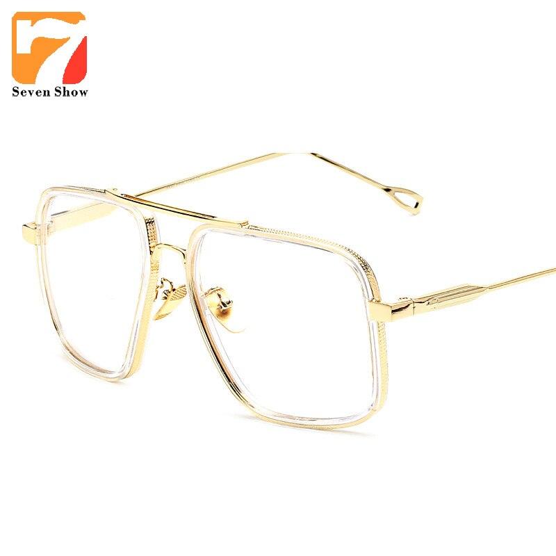 2020 Brand Vintage Optical Prescription Clear Lens Glasses Frame Oversized Gold Frames Eyeglasses for Women Men Oculos de Grau