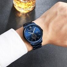 NIBOSI hommes montres Top marque de luxe analogique Quartz montre pour hommes étanche luxe décontracté en acier inoxydable montre Erkek Kol Saati