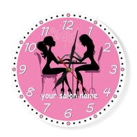 Manicure Salon Wall Clock Nail Salon Spa Personalized Wall Clock Custom Artwork Pedicure Art Nail Studio Business Wall Art Decor
