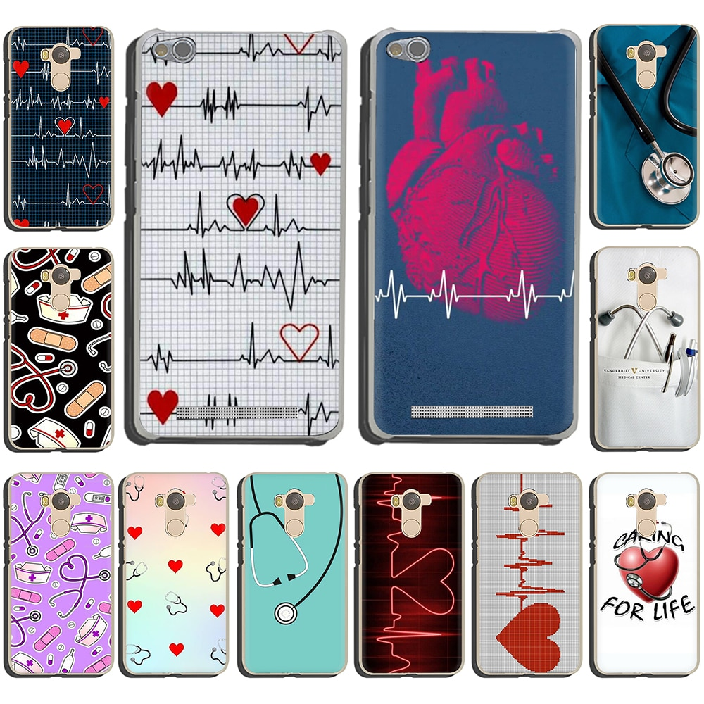 Enfermera médico salud medicina duro de corazón funda de teléfono para Xiaomi Redmi 5 Plus 6A 4A S2 nota 5A primer 5 6 Pro 4 4x7 8 7A K20 Pro