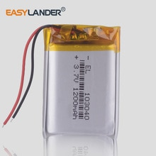 3,7 V 1200mAh 103040 Polymer lithium-ion/Li-Ion batterie für MP3 playmer alarm lautsprecher power bank DVD GPS VR DVR MP4 navigator