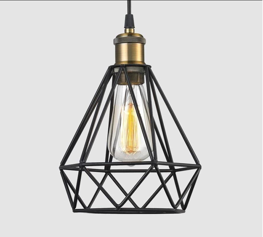 Diamond sharp black retro edison vintage edison cage lights ,wire lamp cage,DIY lampshade,Industrial lamp guard cage