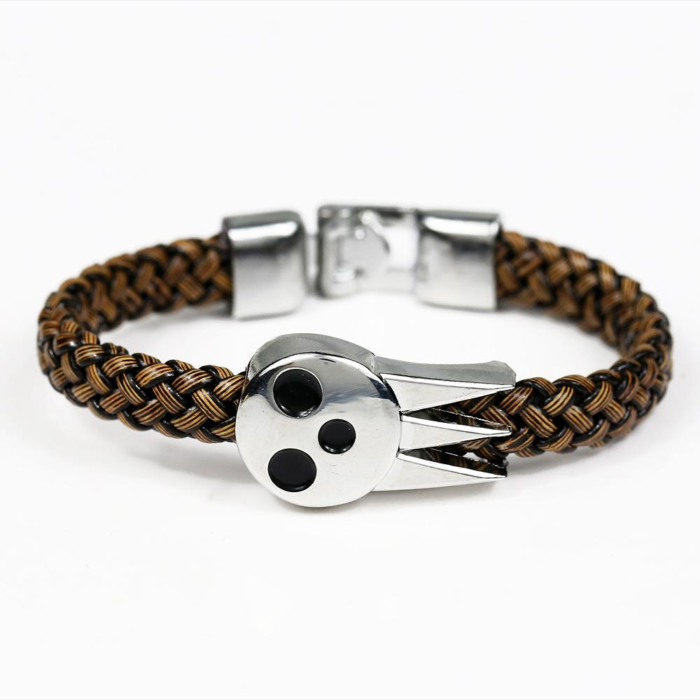 MJ Anime alma come SOULEATER pulsera brazaletes alma logotipo brazalete tejido de cuero regalos de disfraz