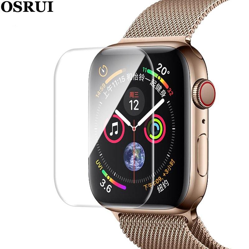Película protectora para Apple watch 38mm 42mm 40mm 44mm iwatch serie 4 3 2 1 Protector suave cubierta completa para reloj Apple watch banda (No