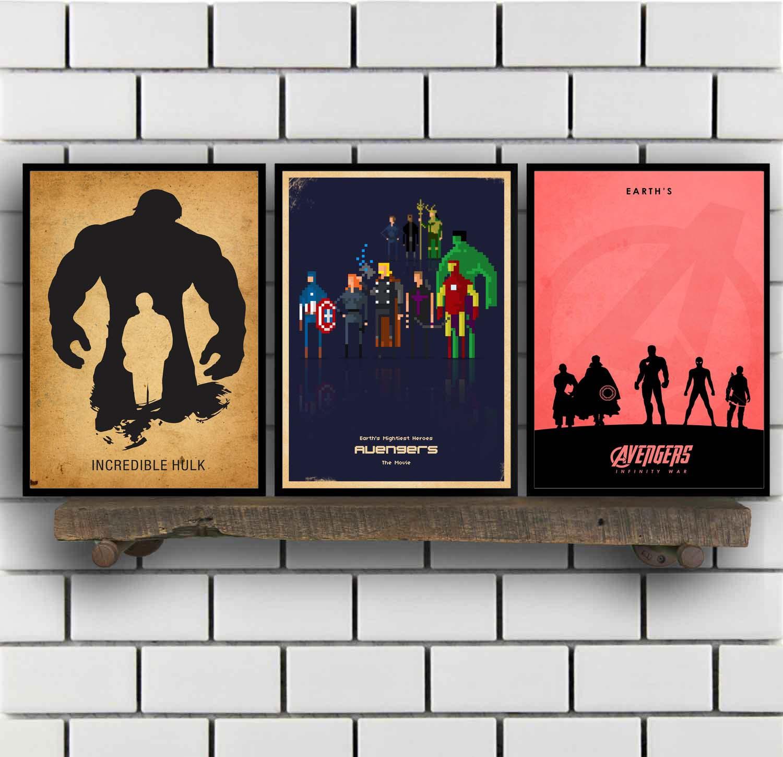 Cartel de película minimalista vengadores Infinity War