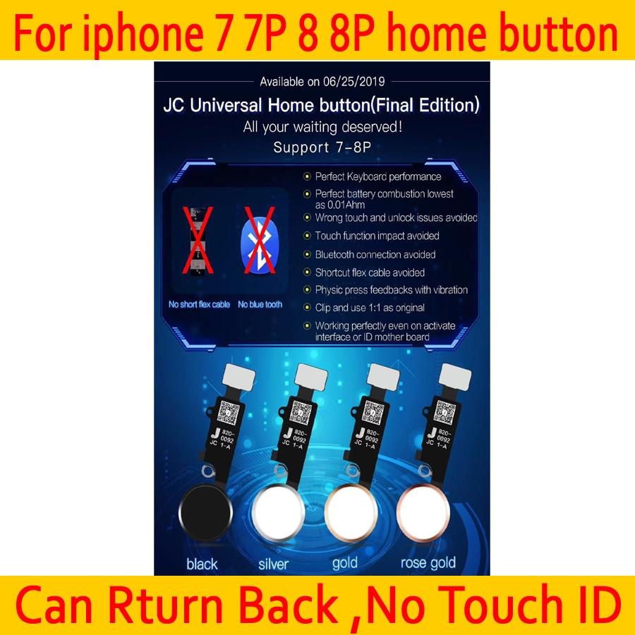 Новая универсальная домашняя кнопка JC YF для iphone 7/7 plus/8/8 plus, Кнопка возврата, только функция задней панели и экран, без сенсорного ID