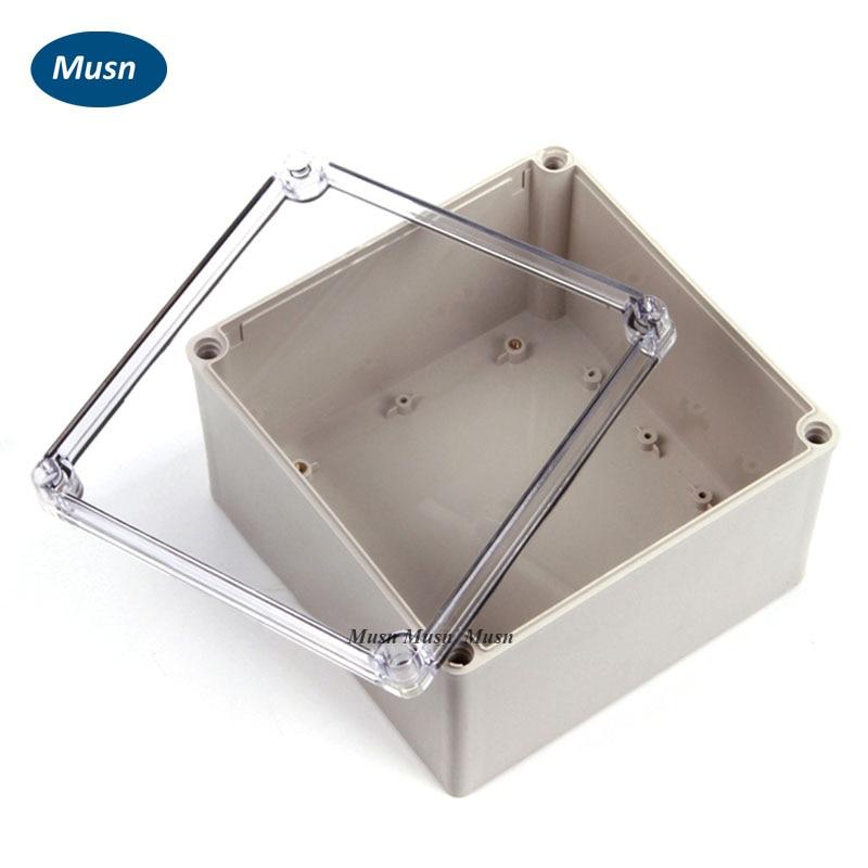 صندوق بلاستيك بغطاء شفاف 160*160*90 مللي متر 6.30*6.30*3.54 يمكن استخدامه مع الموصلات