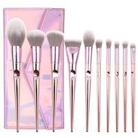 O.TWO.O Makeup Brushes Set Professional 10pcs/lot Eye Shadow Blending Eyeliner Eyelash Eyebrow Brush For Makeup Tool