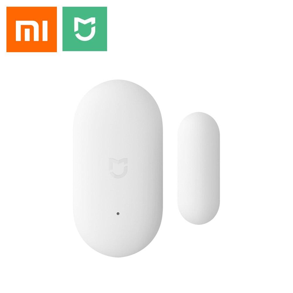 Xiaomi Mijia Sensor de ventana de puerta Mi Kit de casa inteligente sistema de alarma funciona con puerta de enlace mi casa APP Wifi Control remoto