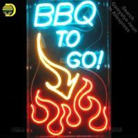 Neon Sign For Custom Neon Window Signs BBQ to GO Flame Pub Restaurant neon Windows lights for sale custom Brand LOGO Handmade