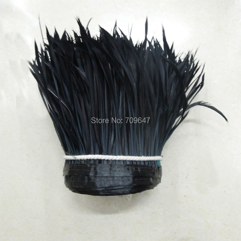 10Yards/lot! black Goose Biot Feather Trim,Millinery Feather, Biot, Hat Trimming, Feathers for Millinery,Fascinators & Crafts