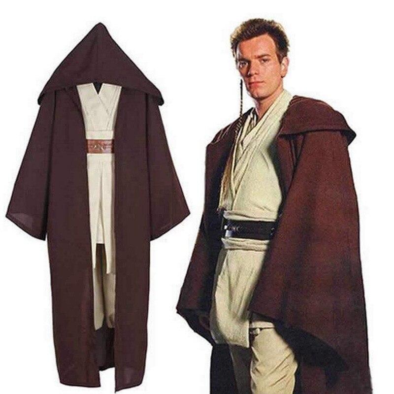 Disfraz de guerrero Jedi Anakin Skywalker, capa de Darth Vader para adultos con capucha, capa de gladiador