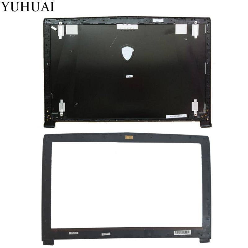 Nueva funda para MSI GE62 2QD-007XCN MS-16J1 16J1 16J2 16J3 LCD superior cubierta trasera negra no táctil/LCD cubierta de bisel