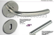 6pairs lot free shipping Modern stainless steel curve door handle,door handle springs