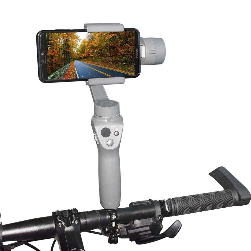 Soporte de bicicleta Gimbal de mano, accesorios de montaje antideslizante, cámara, kit de fijación de bicicleta, Clip estabilizador duradero para DJI OSMO Mobile 2