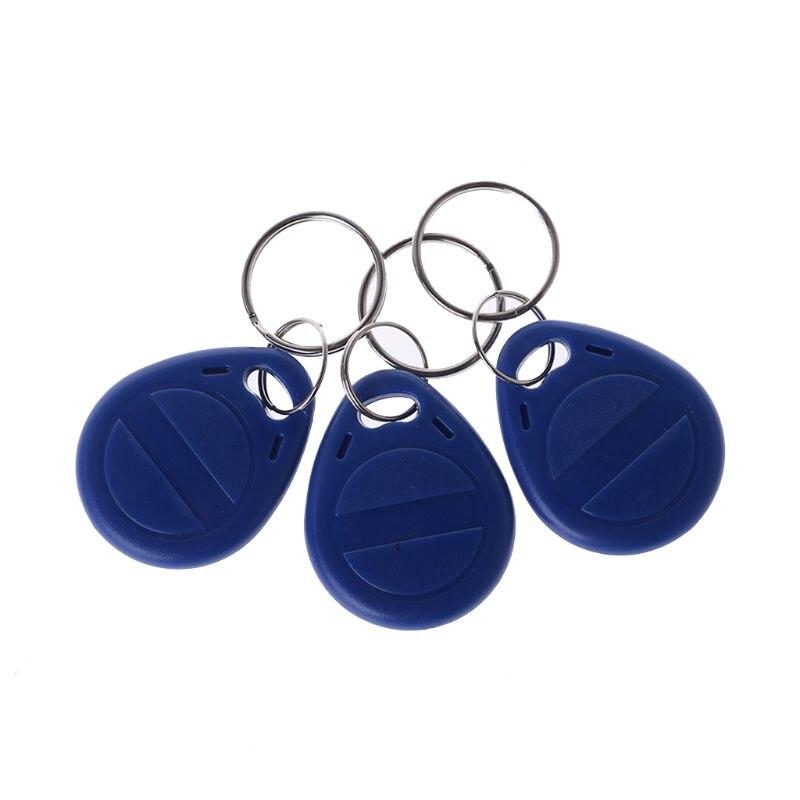 10 stks Duplicator EM4305 T5577 Clone Proximity Badge Writable Rewrite Kopie 125 khz RFID Tag Kaart Sticker Sleutelhanger Token ring
