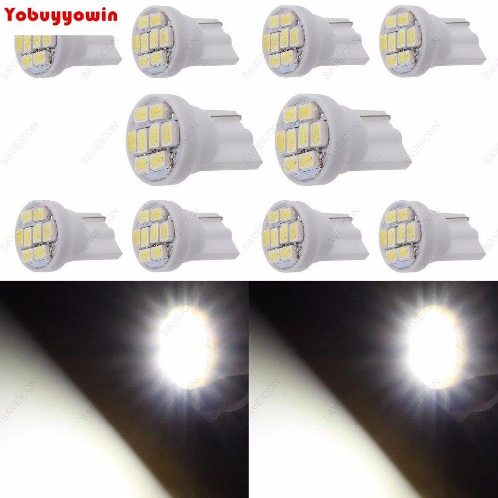 Lampada 8 Led - Placa Teto Meia Luz T10 - Super Potente...