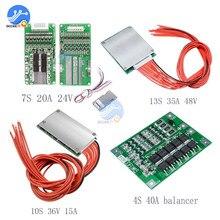 Bms 4 s 40a/7 s 20a 24 v/10 s 36 v 15a/13 s 35a 48 v 18650 리튬 배터리 보호 밸런서 보드 arduino 용 전원 은행 충전기